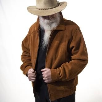 Capybara leather jacket with zipper