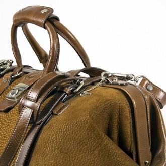 Capybara leather large travel bag with padlock |El Boyero