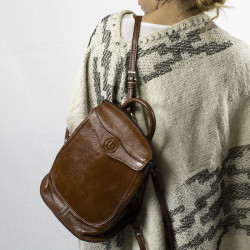 Soft cow leather small backpack  El Boyero