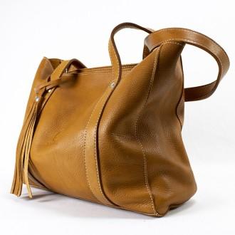 Shoping bag de cuero.