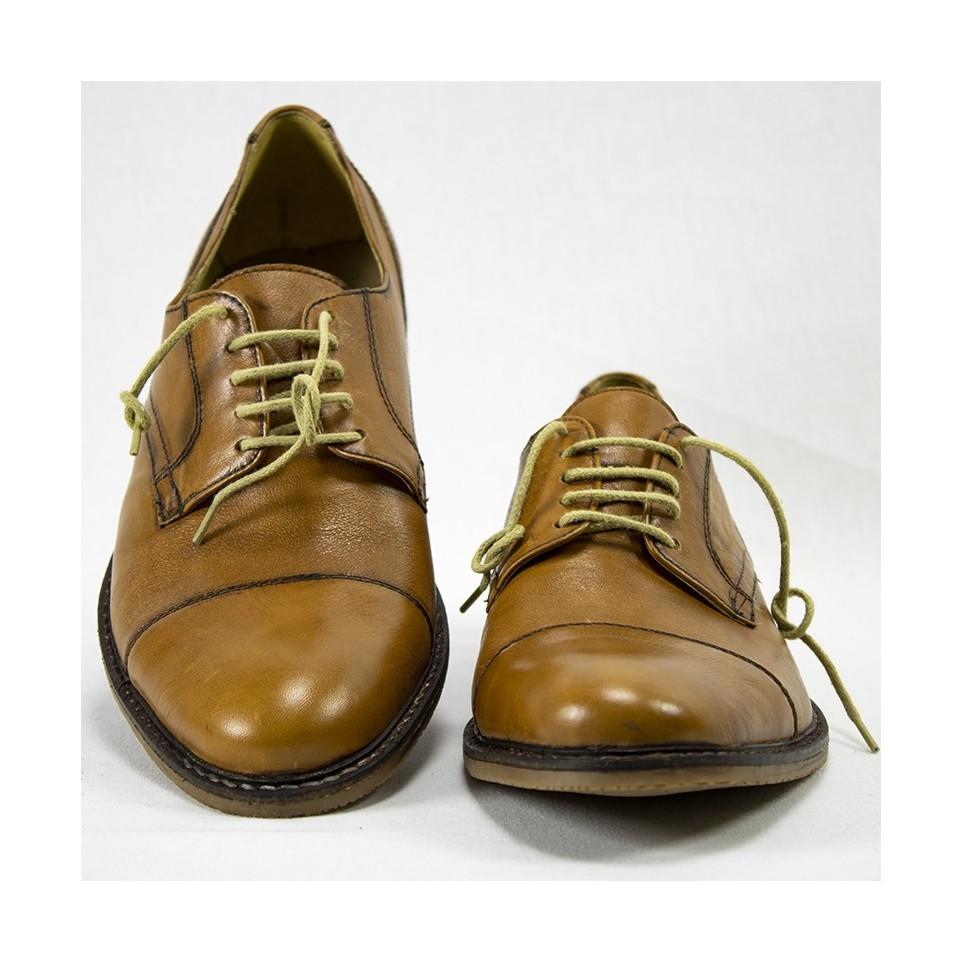 Zapato acordonado cuero negro|El Boyero