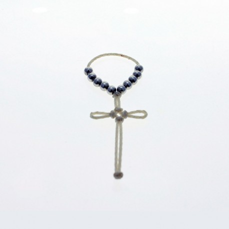 Leather cross with prayer beads |El Boyero