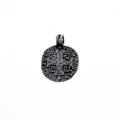 Sterling silver Saint Benito medal