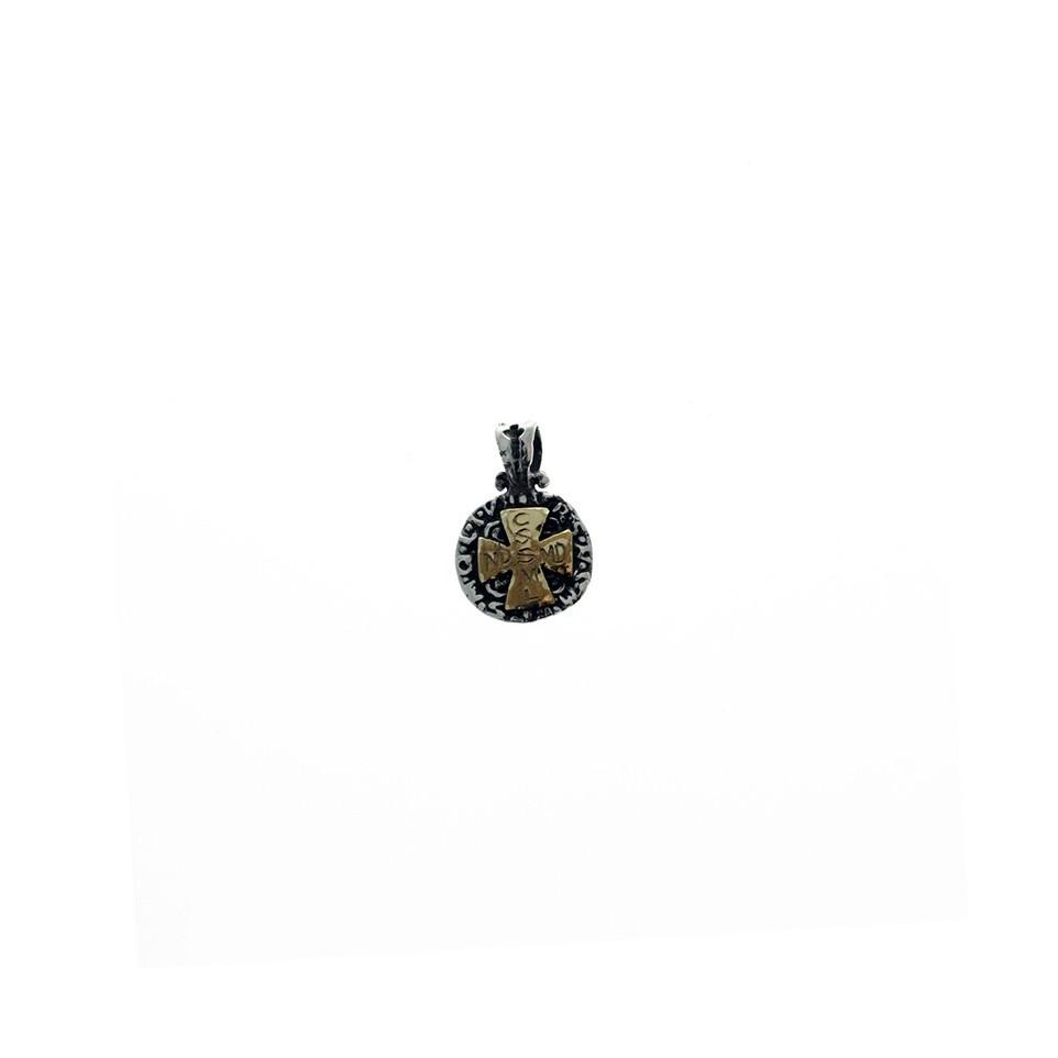 Medalla San Benito chica plata y oro |El Boyero