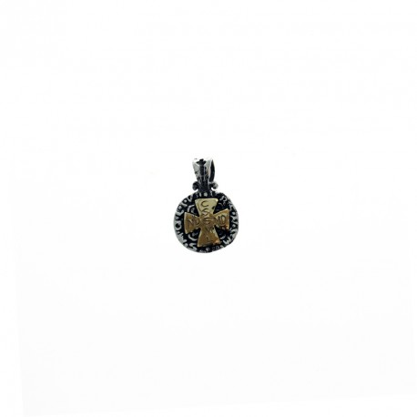 Sterling silver and gold small San Benito medal