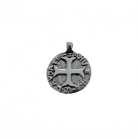 Sterling silver religious medal