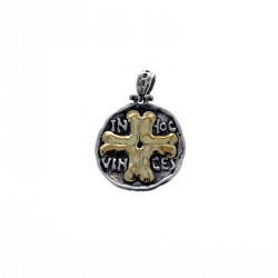 Sterling silver and gold In Hoc Vinces medal |El Boyero