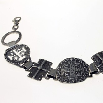 Sterling silver bracelet with religious medals |El Boyero