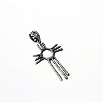 Sterling silver Navajo indian style cross pendant