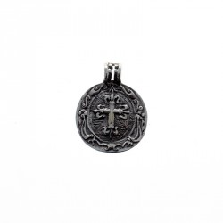 Sterling silver Saint Catherine of Sien medal