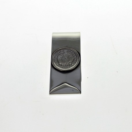 Patacón coin moneyclip