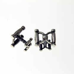 Double snaffle design cufflinks