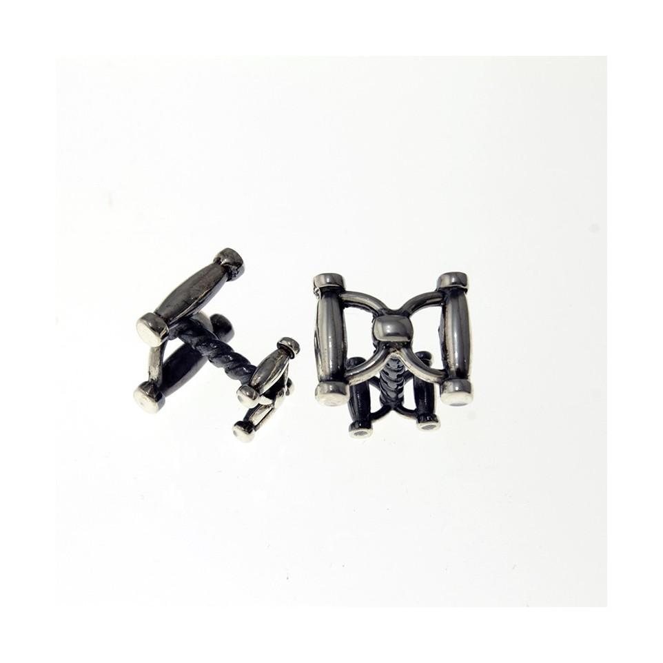 Double snaffle design cufflinks