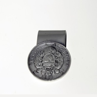 Patacón design nickel silver money clip |El Boyero