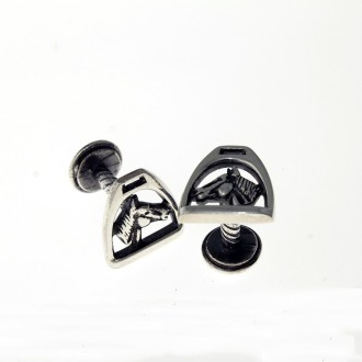 Stirrup design cufflinks