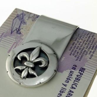 Moneyclip with Fleur de Lis design |El Boyero