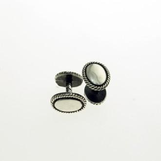 Plain cufflinks for engraving