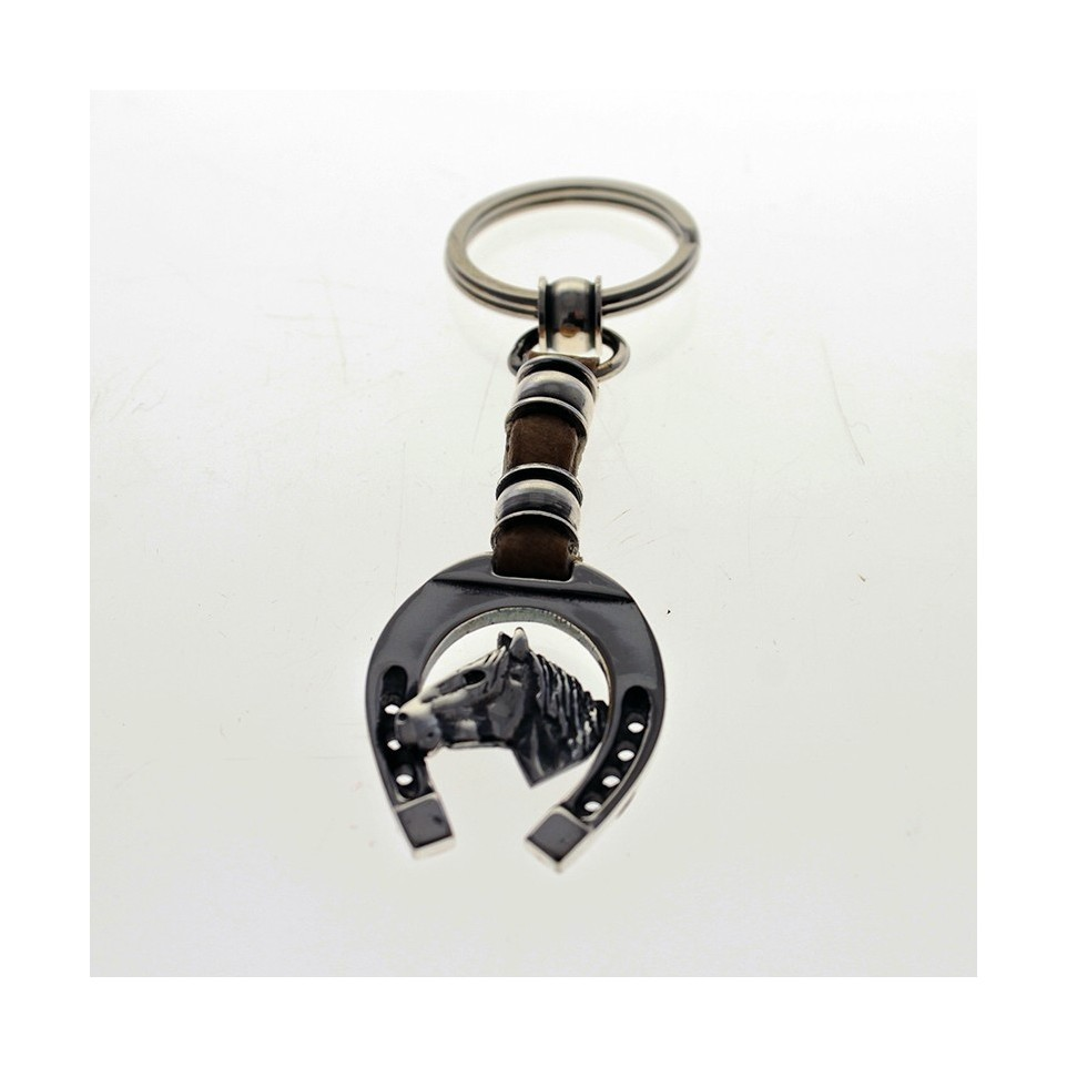 Horse head design keychain
