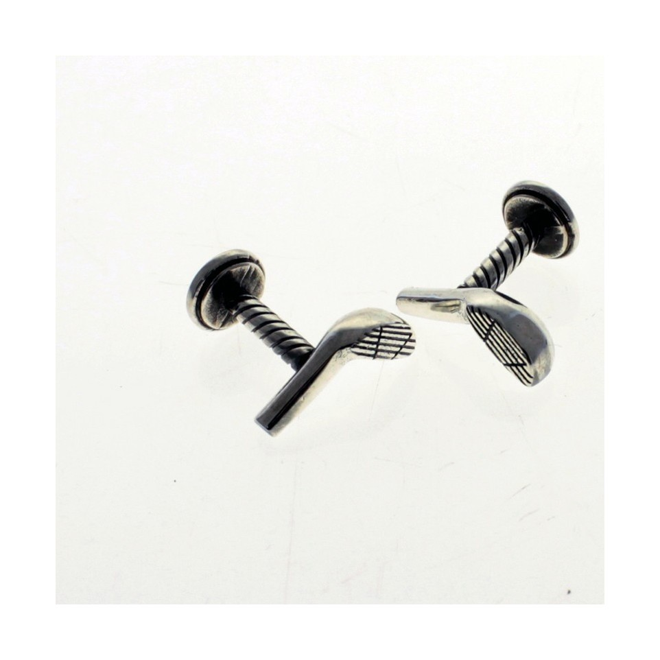 Cuff links. Golf design.