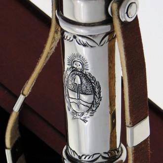 Rebenque de madera y alpaca cincelado |El Boyero