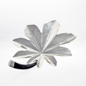 Nickel silver small leaf shaped tray |El Boyero