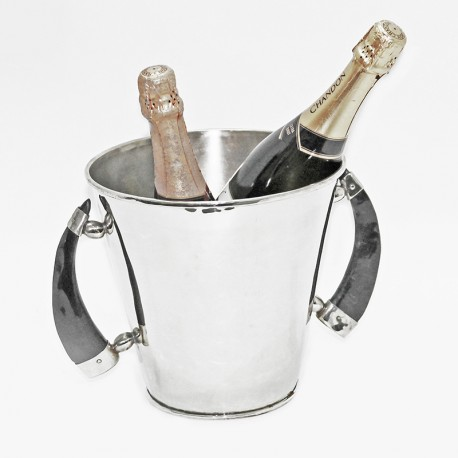 Nickel silver small round champagne bucket