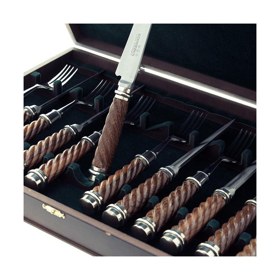 Caja con 12 piezas - Cuchillo y Tenedor |El Boyero