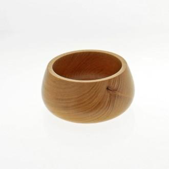 Bowl redondo de madera de 14 cm