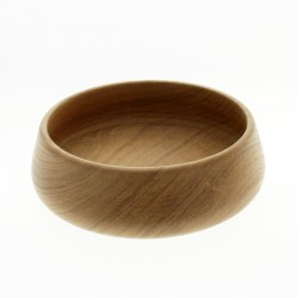 Bowl redondo de madera de 22 cm