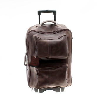 Wheeled leather travel bag |El Boyero