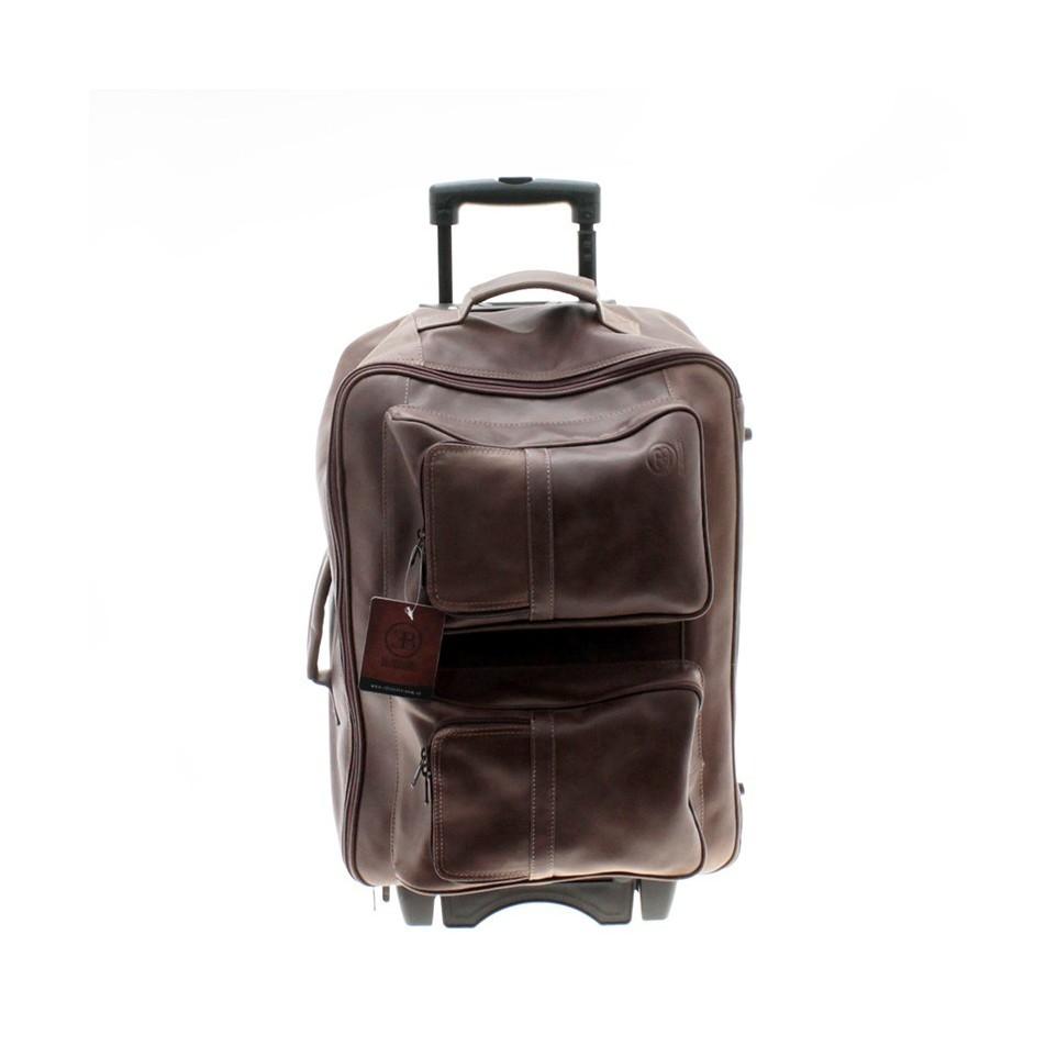 Wheeled leather travel bag  El Boyero