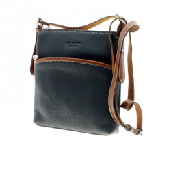 Cow leather crossbody square purse |El Boyero