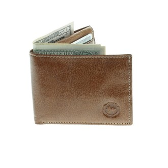 Soft cow leather flip up wallet