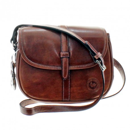 Cow leather crossbody flap over purse
