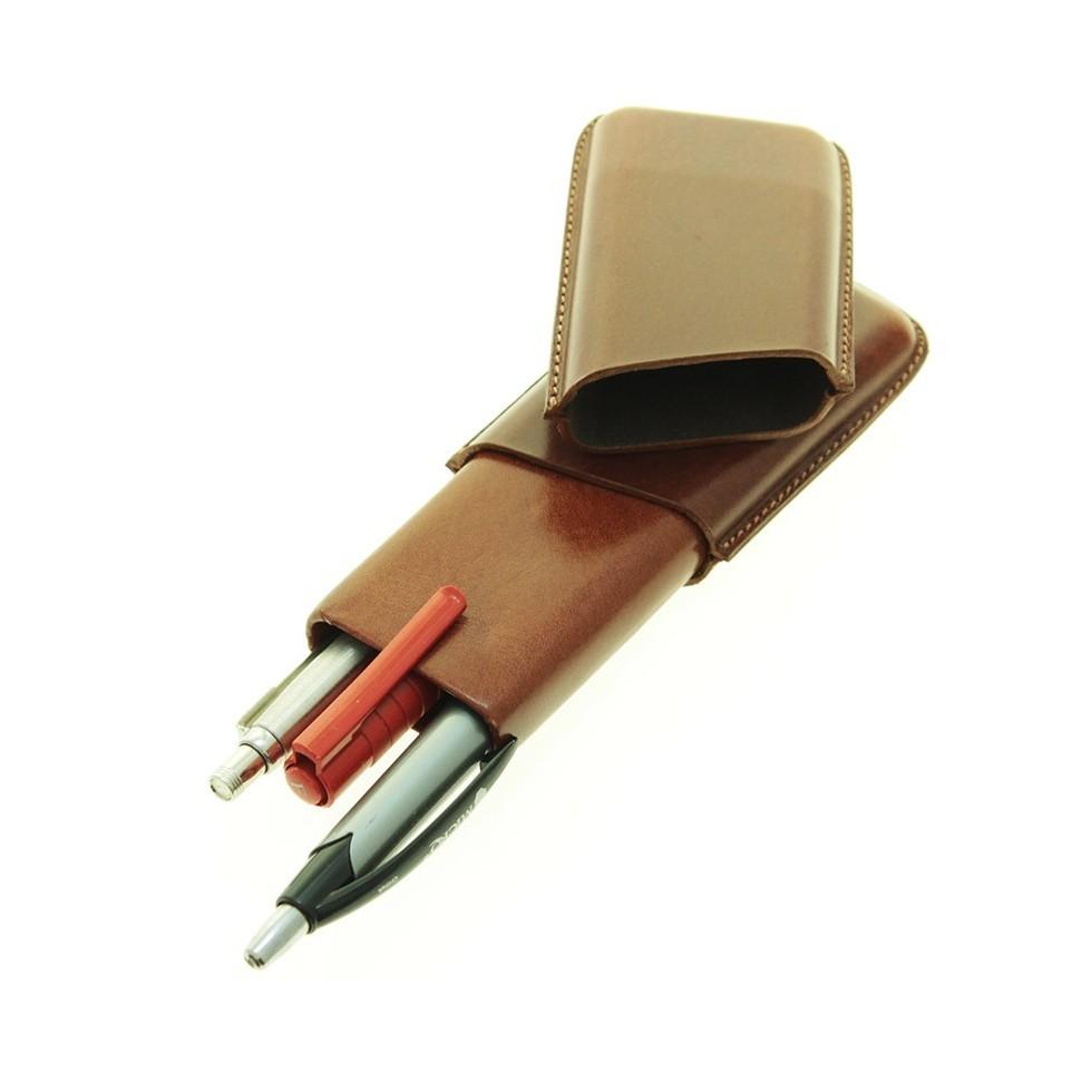 Leather pencils case