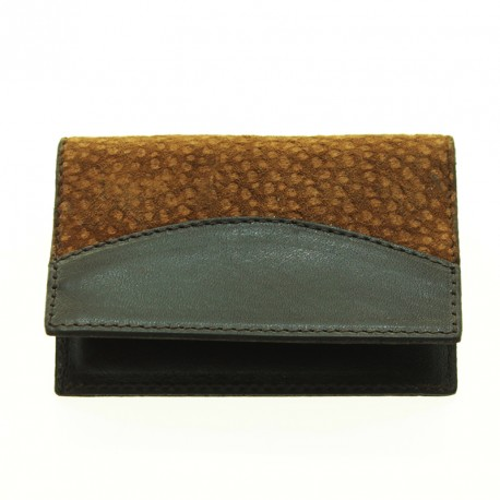 Capybara and cow leather cards holder