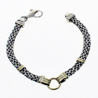 Sterling silver and gold bracelet |El Boyero