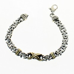 Sterling silver and gold bracelet |El Boyero