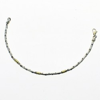 Sterling silver and gold bracelet  El Boyero