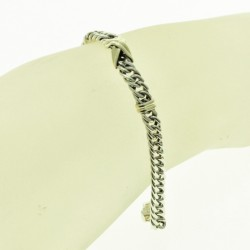 Sterling silver and gold bracelete