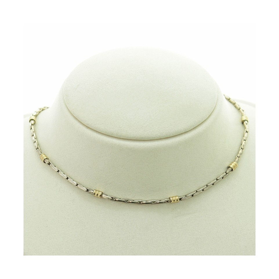 Sterling silver and gold necklace