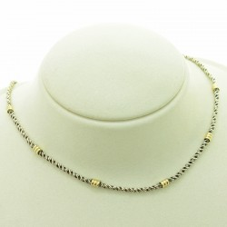 Sterling silver and gold necklace |El Boyero