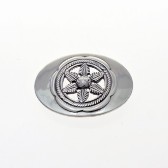 Poinsettia belt buckle |El Boyero