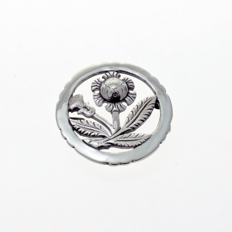 Round thistle flower belt buckle |El Boyero