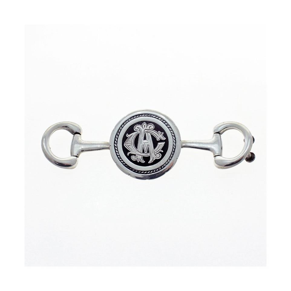 Initials sterling silver snaffle belt buckle |El Boyero