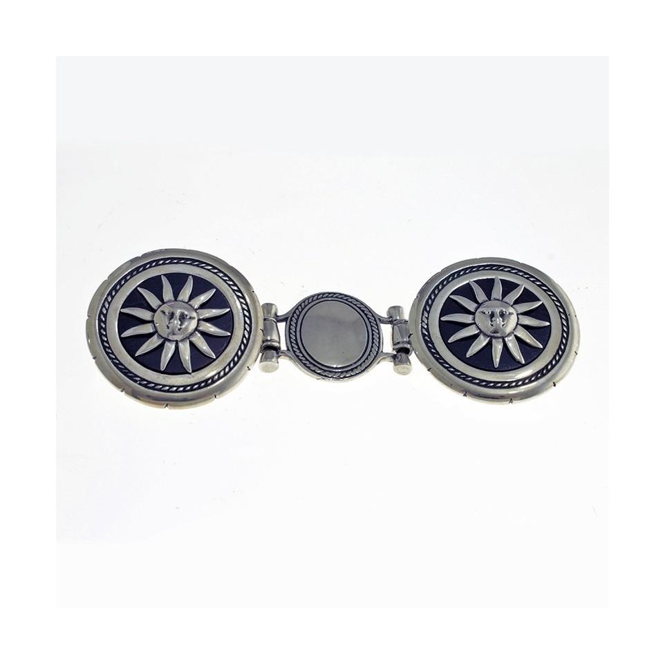 Sun sterling silver double belt buckle |El Boyero