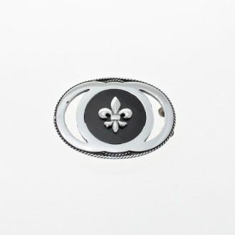 Hebilla de plata - Diseño Flor de lis |El Boyero