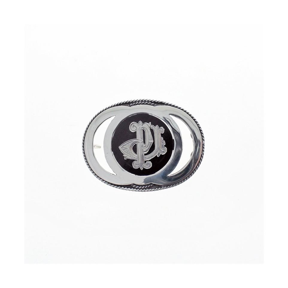 Hebilla de plata - Diseño Monograma |El Boyero