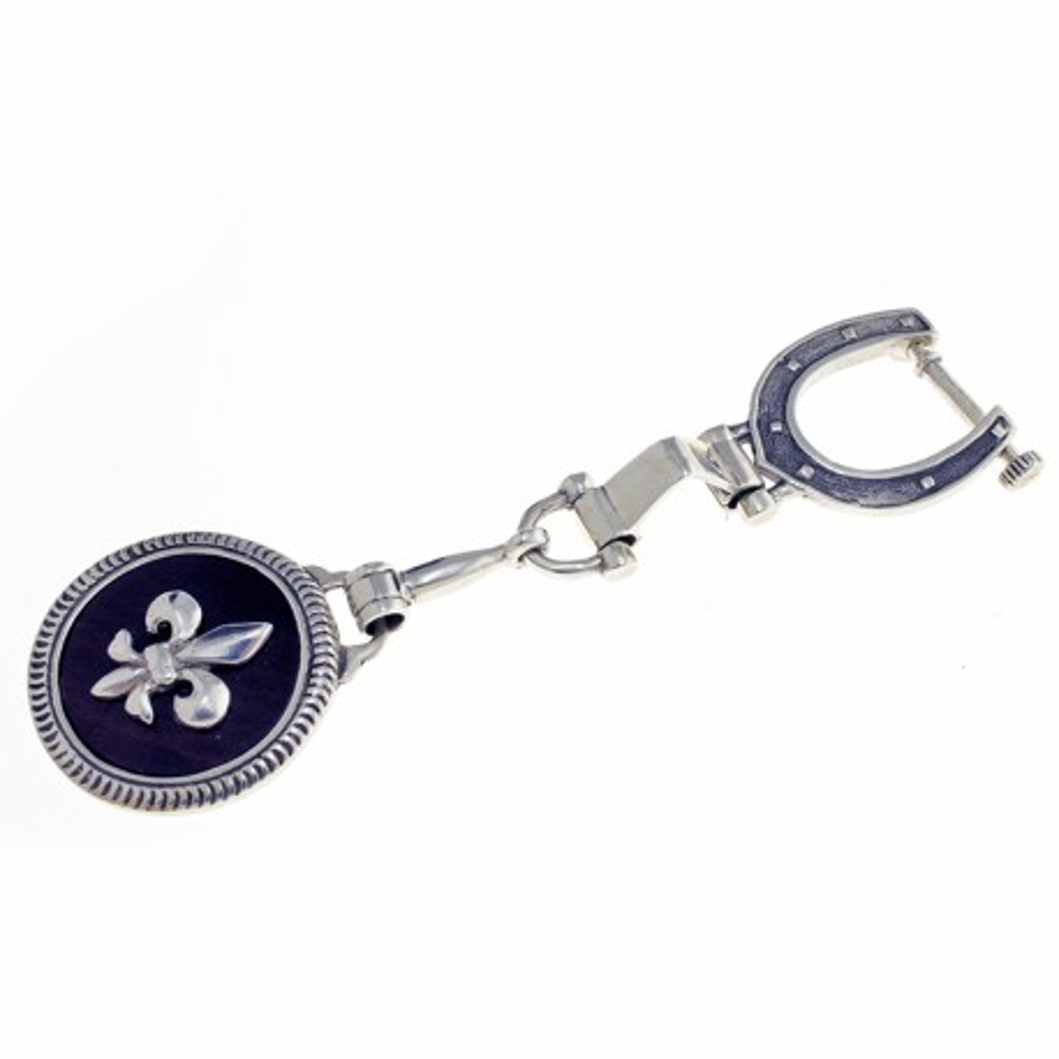 Fleur de lis sterling silver keychain |El Boyero