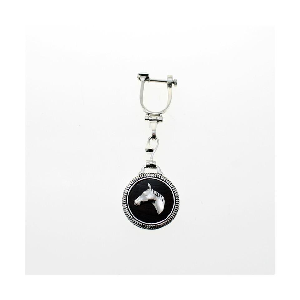 Horse head sterling silver keychain |El Boyero